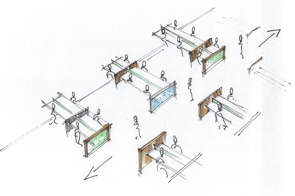 Open Space Cubicle Layout